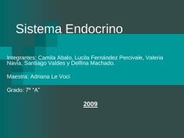 Sistema Endocrino - Colegio y Oratorio San Francisco de …