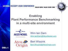 Enabling Plant Performance Benchmarking in a multi …