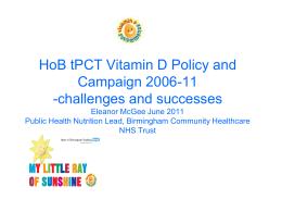 Vitamin D Campaign