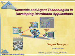 Semantic and Agent Technologies in Developing …