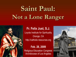 St. Paul Was Not a Lone Ranger