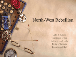North-West Rebellion 1