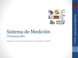 Sistema de Mediciones 15 Semanas/4Hrs