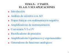 TEMA 5.- el A.O. Y SUS APLICACIONES