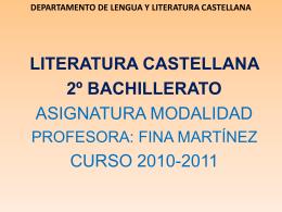 departamento de lengua y literatura castellana