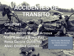 ACCIDENTES DE TRANSITO - | Dr. Alejandro Alvarez