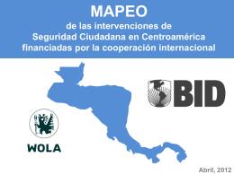 MAPEO de las intervenciones de seguridad ciudadana en
