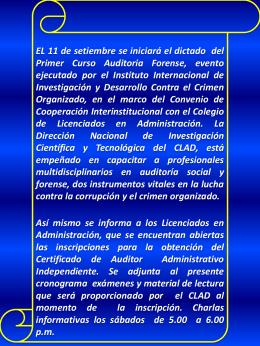 Diapositiva 1 - CLADPERU | COLEGIO DE LICENCIADOS EN