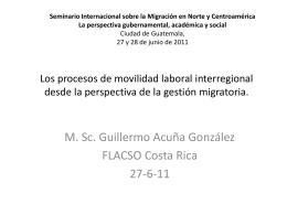 Los procesos de movilidad laboral interregional desde la