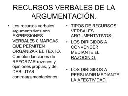RECURSOS ARGUMENTATIVOS VERBALES