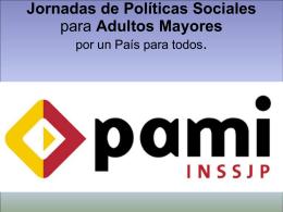 Diapositiva 1 - INSSJP - Instituto Nacional de Servicios