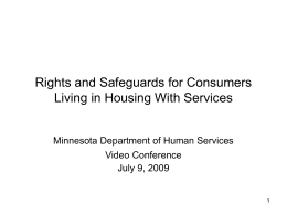 Home Care Bill of Rights for Consumers in Housing With