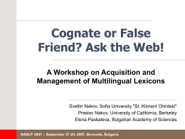 Cognate or False Friend? Ask the Web!