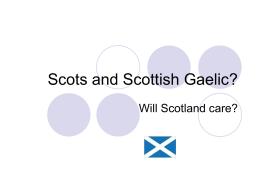 Scots or Scottish Gaelic?