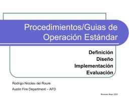Procedimientos/Guias de Operacion Estandar