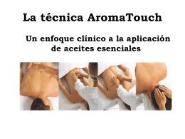 La tecnica AromaTouch
