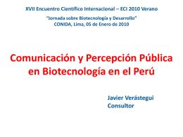 Diapositiva 1 - Portal PeruBiotec