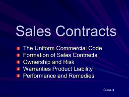 Sales and Lease Contracts - University of Washington
