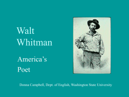 Walt Whitman - Washington State University