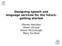 Designing SLT services for the future – getting started
