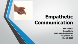 Empathetic Communication