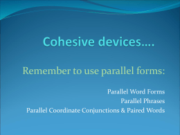 Cohesive devices…. - English 3 LIN-AZ