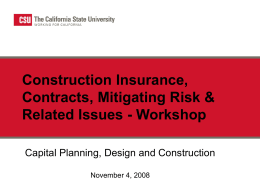 Construction Insurance, Contracts, Mitigating Risk