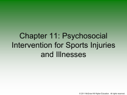 Chapter 11: Psychological Intervention for Sports Injuries