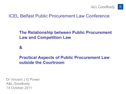 The Relationship between Public Procurement Law and