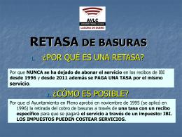RETASA DE BASURAS