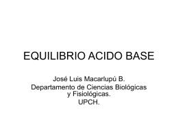 EQUILIBRIO ACIDO BASE - UPCH
