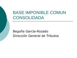 BASE IMPONIBLE COMUN CONSOLIDADA
