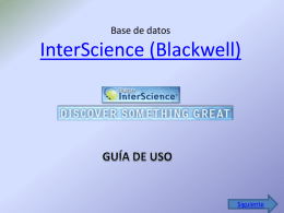 Base de datos InterScience (Blackwell)