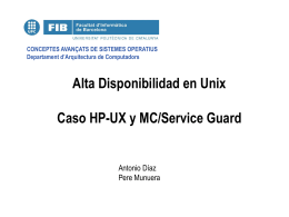 Alta Disponibilidad en Unix Caso HP