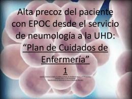 Alta precoz del paciente con EPOC desde el servicio de
