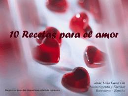 10 Recetas para el amor