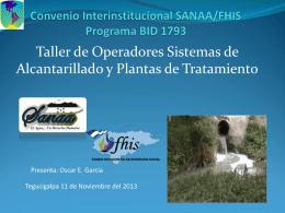 Convenio Interinstitucional SANAA/FHIS Programa BID 1793