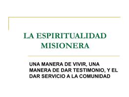 MISSION SPIRITUALITY
