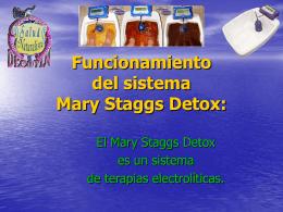Funcionamiento del sistema Mary Staggs Detox: