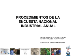 Procedimientos de la Encuesta Nacional Industrial Anual