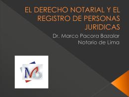 EL DERECHO NOTARIAL Y EL REGISTRO DE PERSONAS …