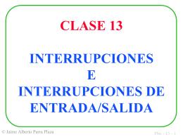 INTERRUPCIONES DE ENTRADA/SALIDA