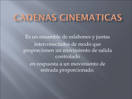 Cadenas cinematicas - Miutj's Blog de la UTJ | The