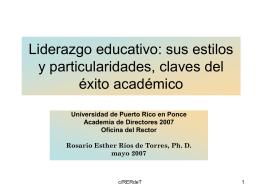 Liderazgo educativo: sus estilos y particularidades