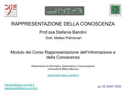 INTELLIGENZA ARTIFICIALE Elementi Stefania Bandini
