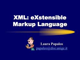 Un nuovo modo di strutturare i dati nel Web: XML