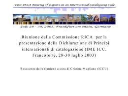 Presentazione di PowerPoint - ICCU | Istituto Centrale …