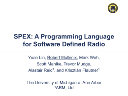 SPEX: A Programming Language for Software Defined …