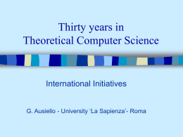 Thirty years in Computer Science