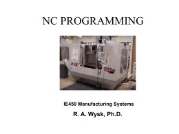 NC PROGRAMMING – Part 1
